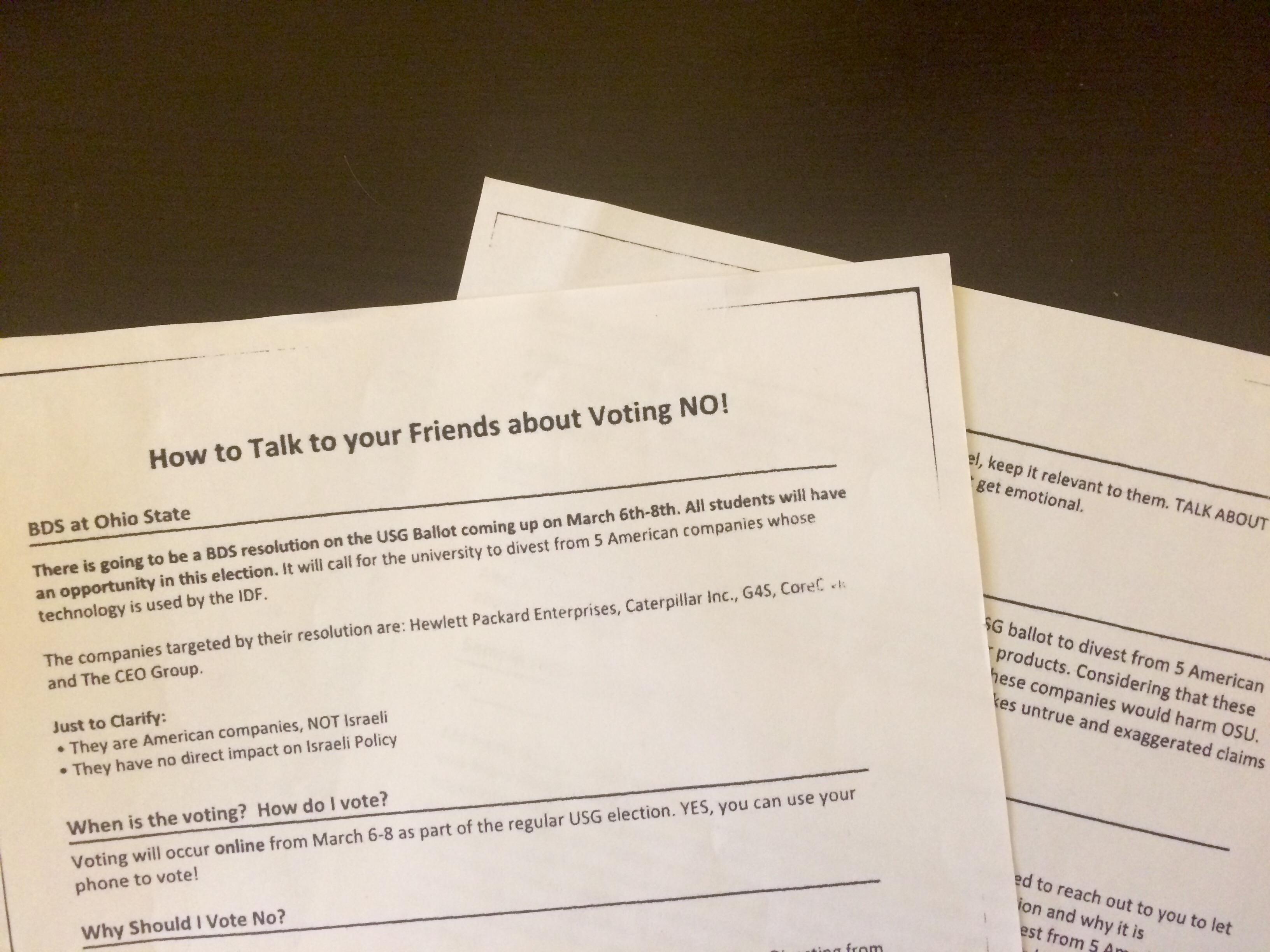 Ohio State Hillel putting weight, staff, money behind USG ballot ...