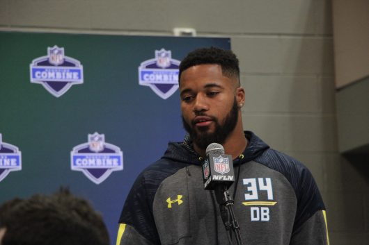 Marshon Lattimore has issues with hamstring during his NFL Combine workout