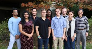 A team of Ohio State students are working with NASA to improve a passive water-delivery system for on-board plants and a method of recycling natural waste to create nutrient-rich soil. Credit: Courtesy of Ohio State