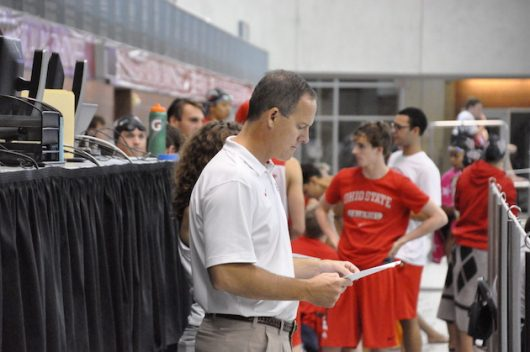 Bill Dorenkott, director of swimming and diving at Ohio State, won the 2020 Big Ten Swimming Coach of the Year award. Credit: Courtesy of Ohio State Athletics