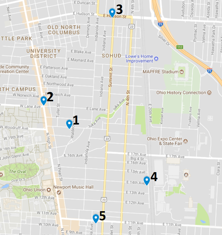 Crime map July 10 – 16