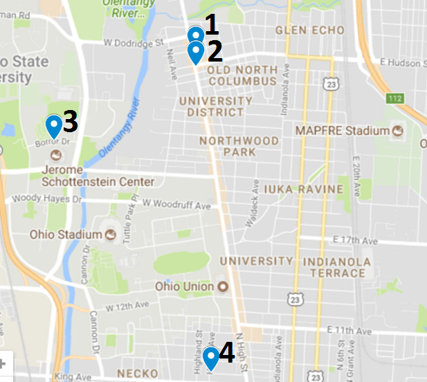 Campus area crime map Aug. 7 – 13, 2017