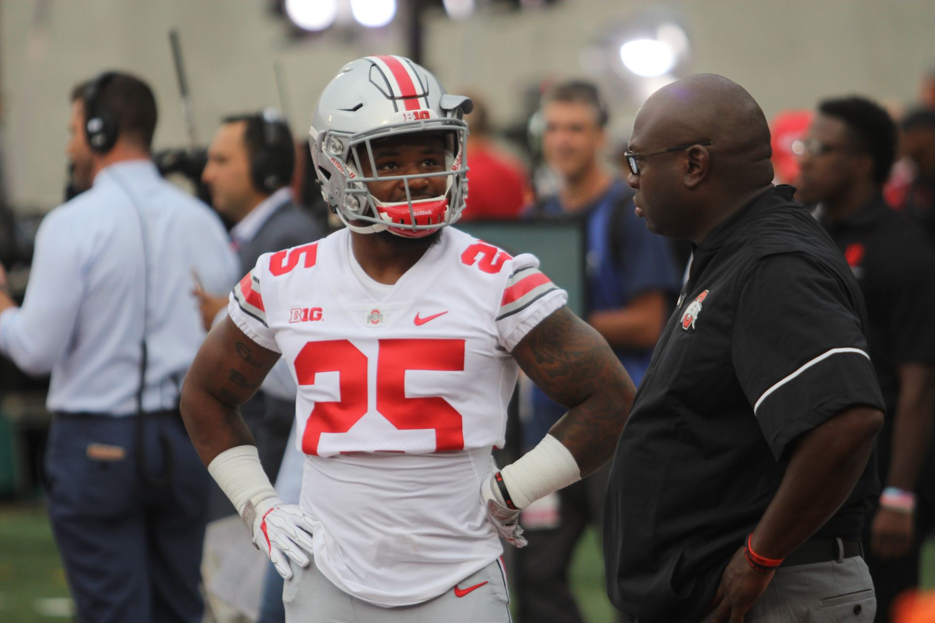 reputable site 629bf 71df0 Football: How will Ohio State rotate running backs J.K. ...