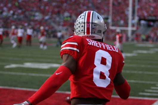 new product 73c29 fe37a Football: Kendall Sheffield leaves game against No. 15 TCU ...