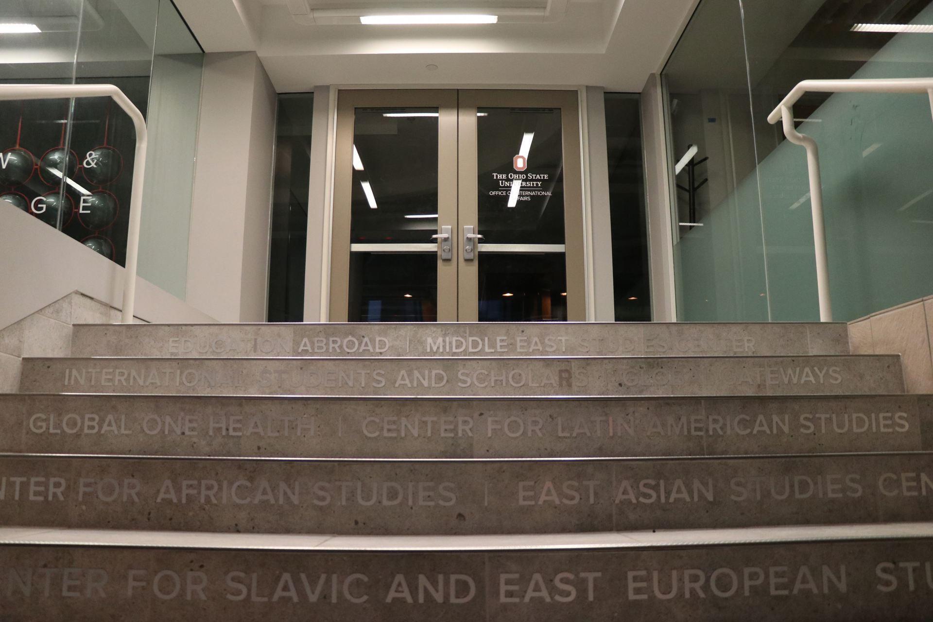 steps up to office of international affairs in the enarson classroom building