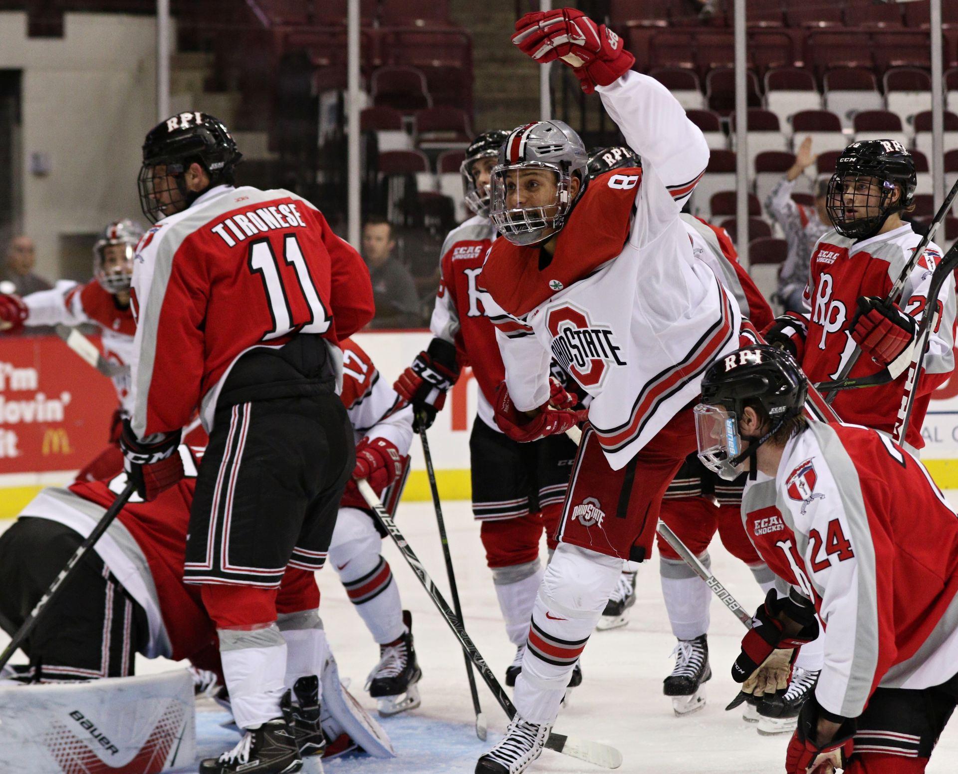 b864786ae Men's Hockey: Ohio State plays RPI to a 1-1 draw despite 57 shots