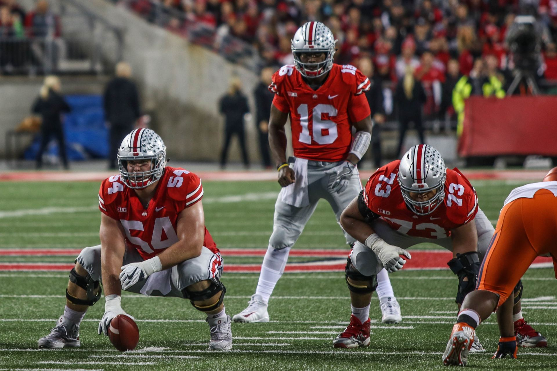 reputable site 2a1e4 312c1 Football  Ohio State offensive line tasked with slowing Michigan s stout  defensive line