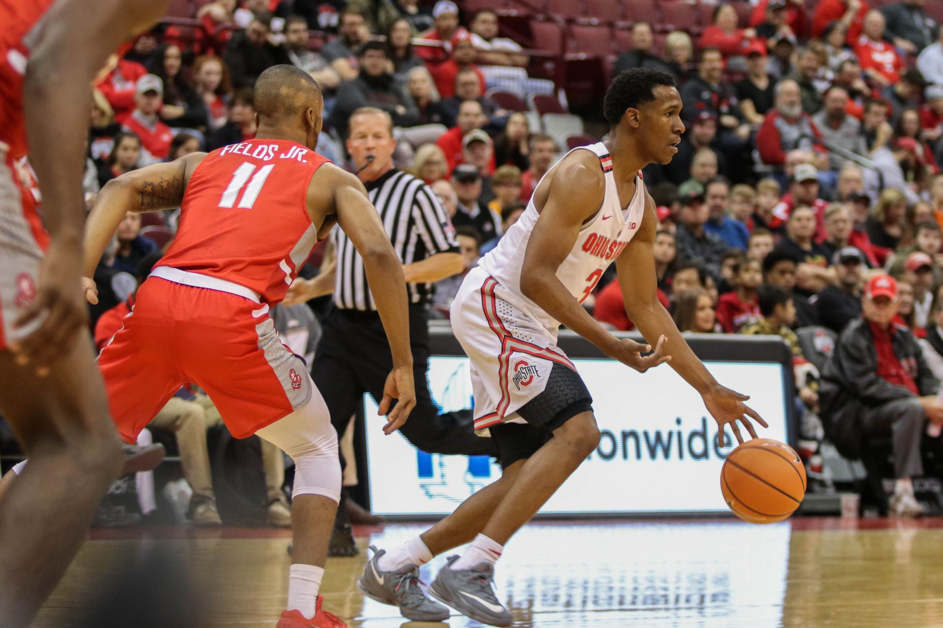 Mens Basketball Ohio State Overcomes First Half Sloppiness To Win   Against Radford