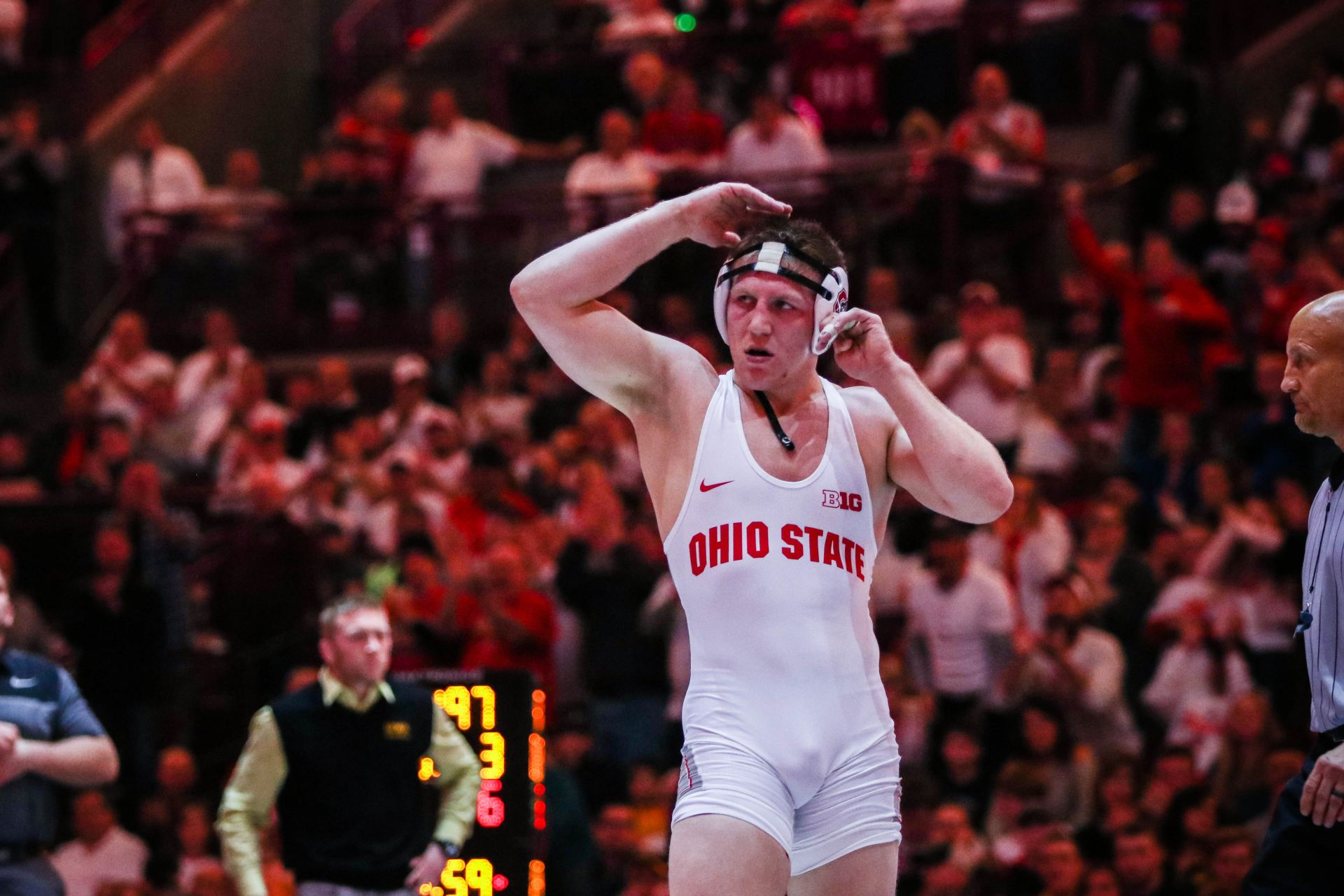 new product b19b1 8c690 Wrestling  Ohio State finishes first day at NCAA championships in first  place