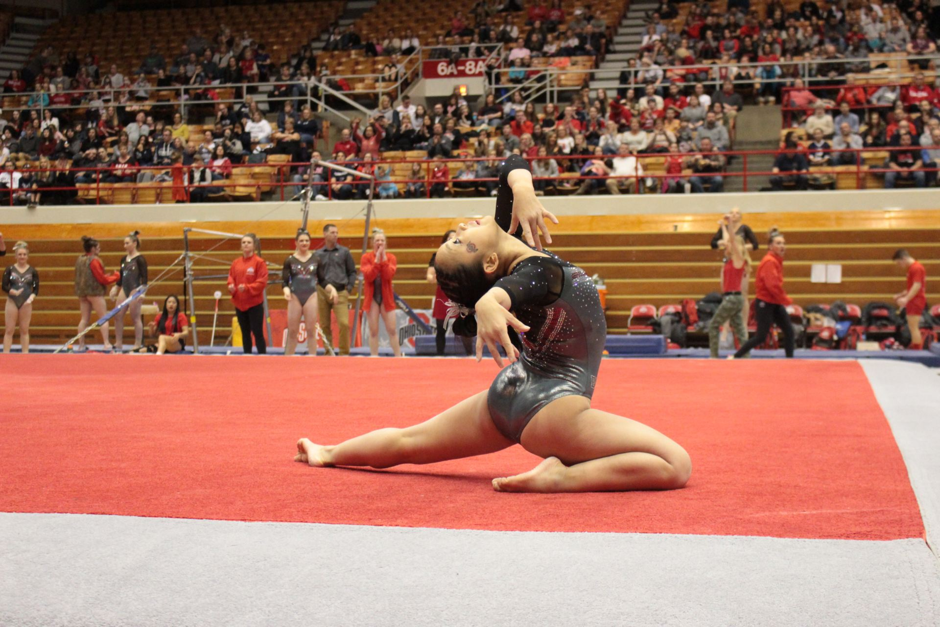 Womens Gymnastics Ohio State Edges Out Penn State For Third Big