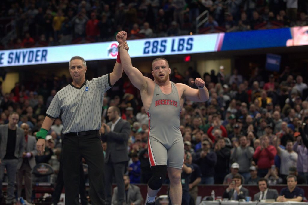 Wrestling: Kyle Snyder wins third national championship