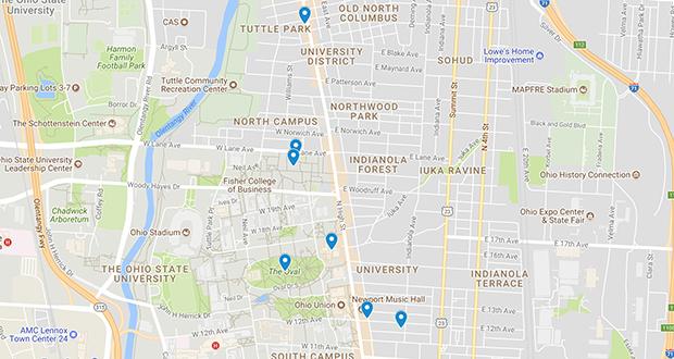 Osu Crime Map The Lantern