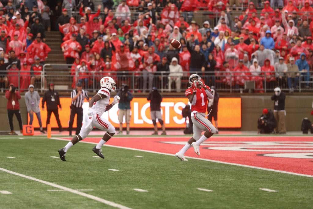 Ohio State senior wide receiver Johnnie Dixon (1) catches the ball for a  touchdown during the first half of the game against Rutgers on Sept. 8. 7f0267de5