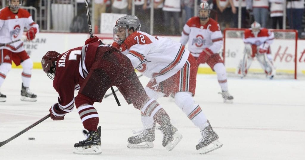 Men's Hockey: No. 1 Ohio State comes out without chip on its shoulder in home opener