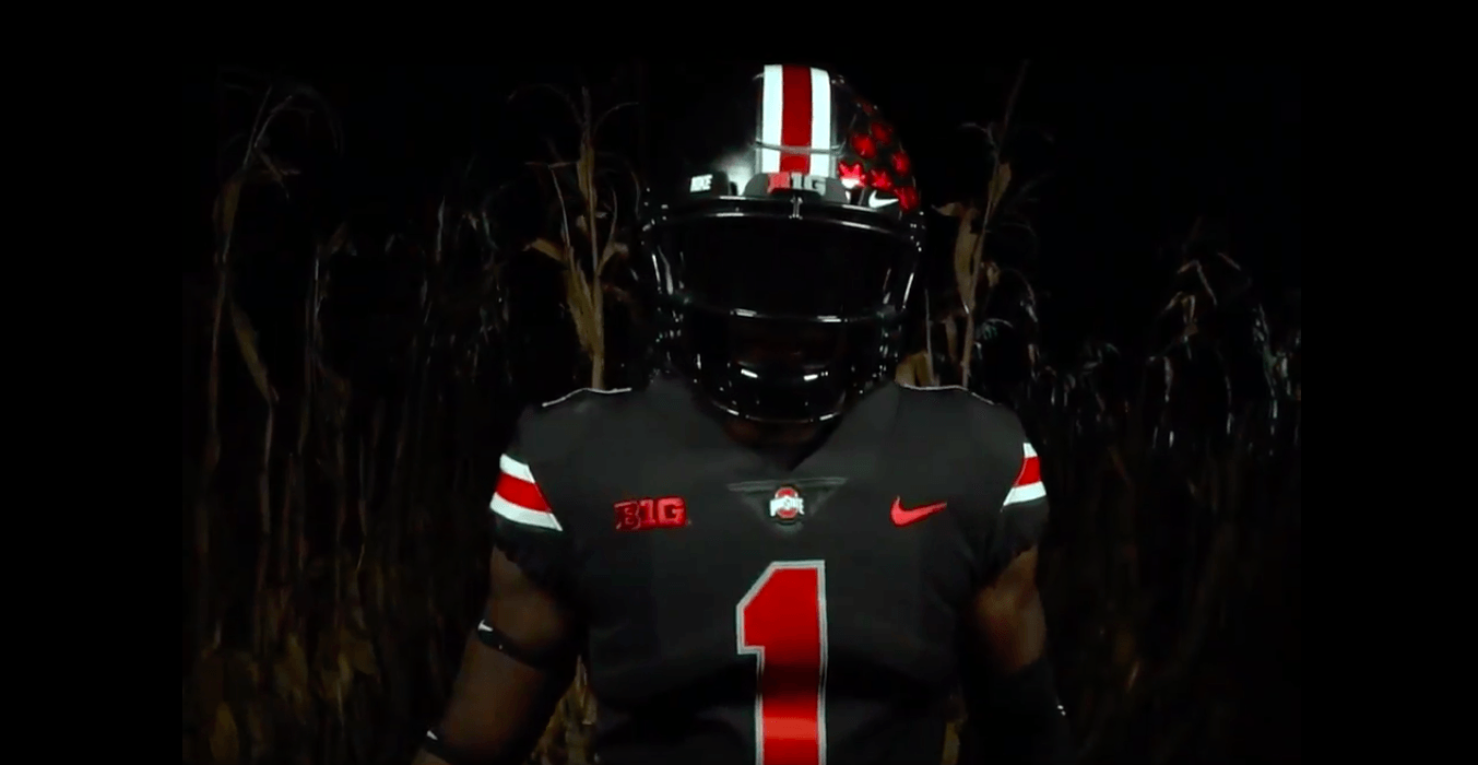 Ohio State revealed its jerseys for the game on Nov. 3 against Nebraska.  Credit  Courtesy of Ohio State Football (Twitter) 42901ea6a