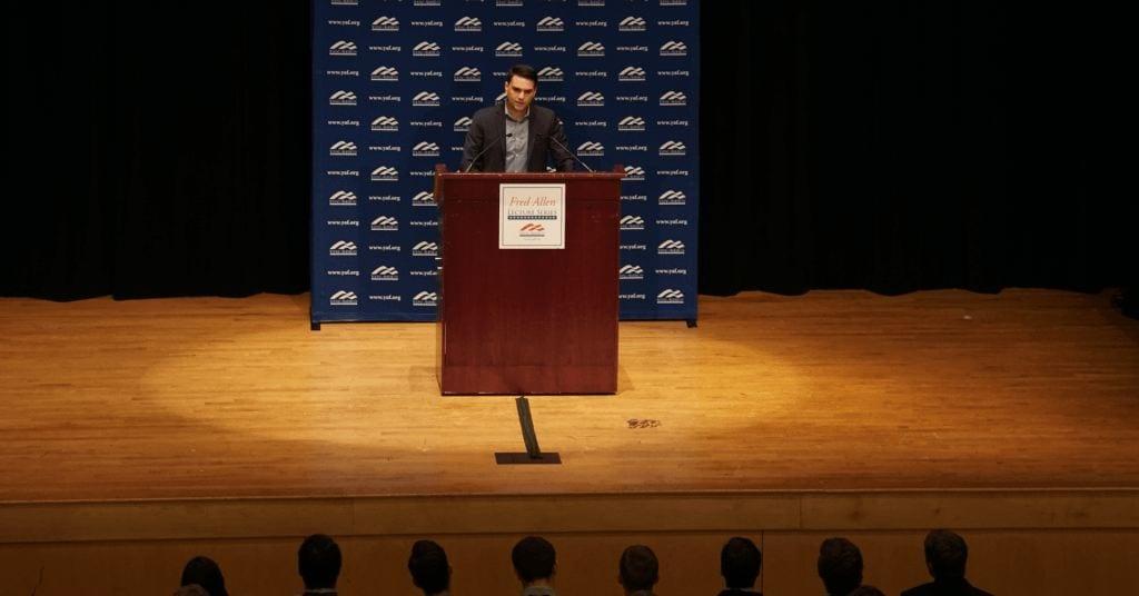 Ben Shapiro draws conservative crowd, liberal protests