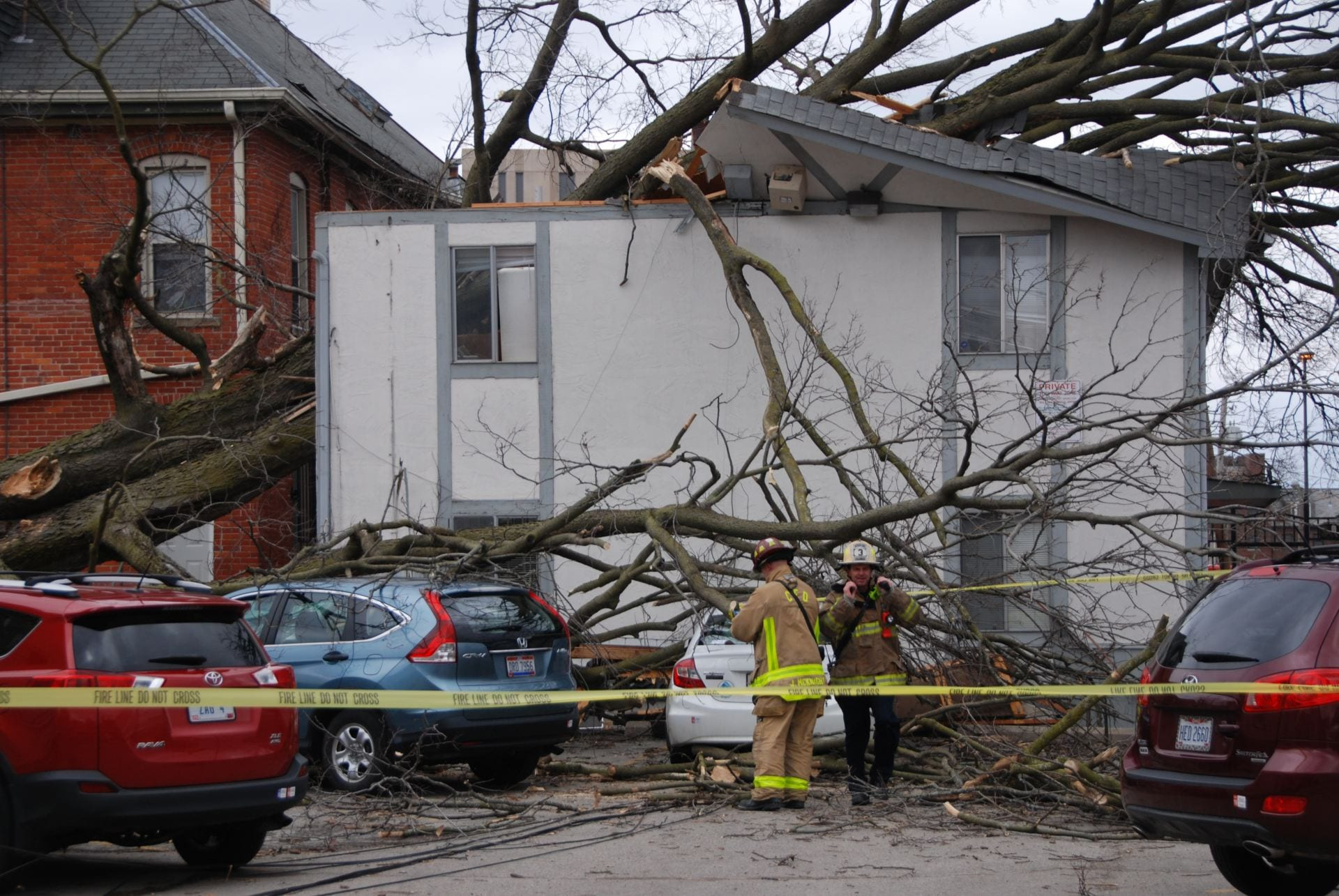 A Tree Fell On South Campus Apartment Complex Sunday Feb 24 Three Students Were Transported To The Ohio State Wexner Medical Center In Le