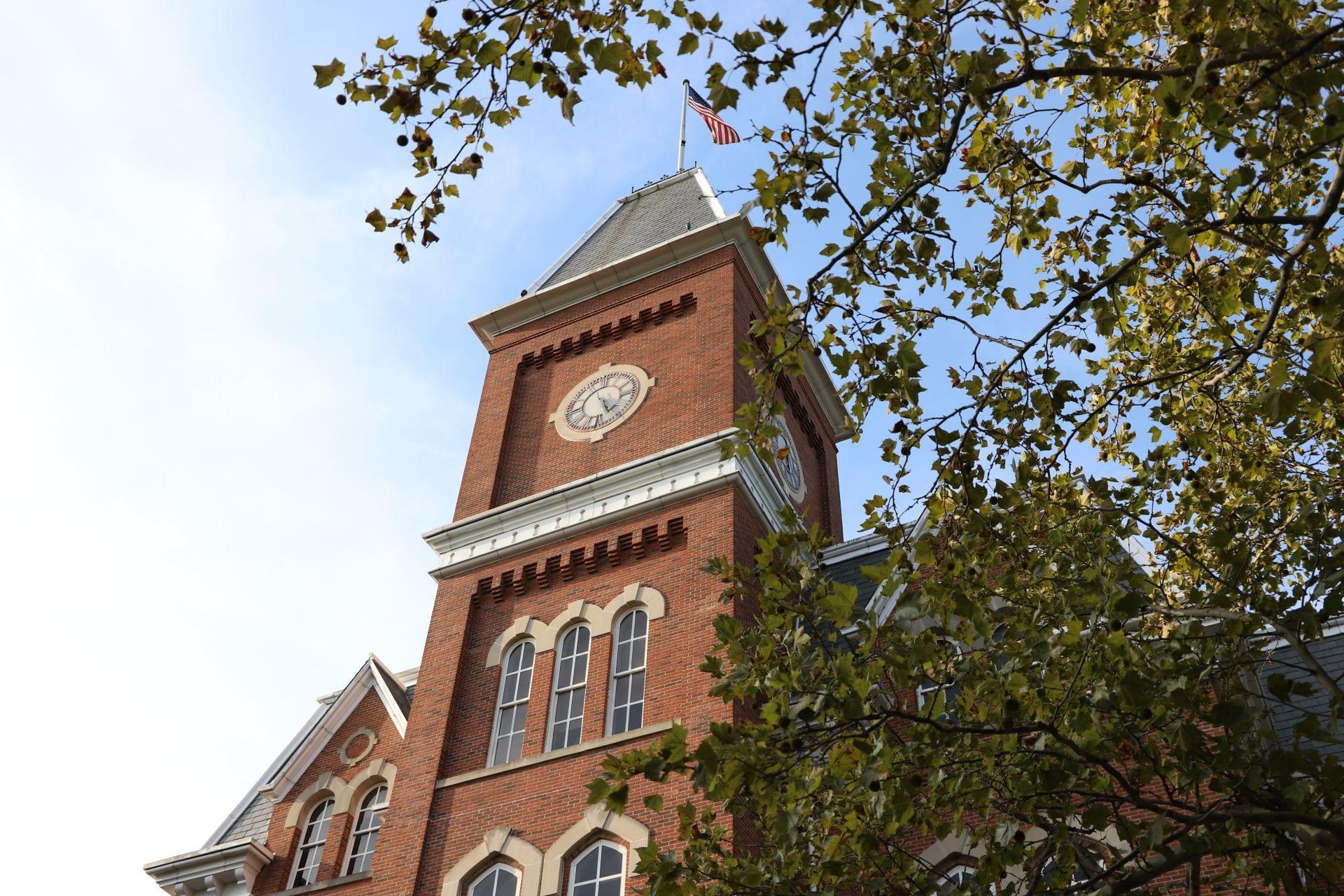 Ohio state campus stock image university hall