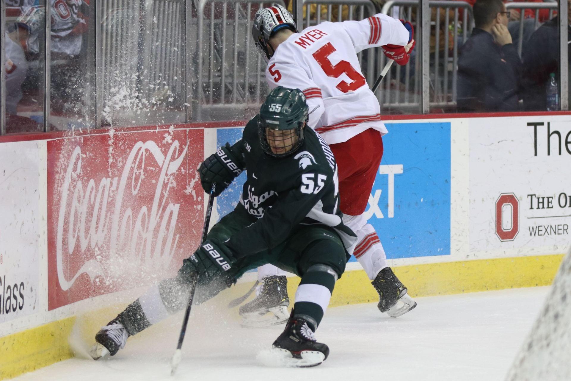 Men's Hockey: No. 12 Ohio State wins home-opener over Nebraska-Omaha