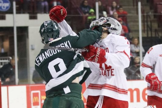 Men's Hockey: No. 7 Ohio Condition loses 3-2 against Michigan Condition in final regular season game