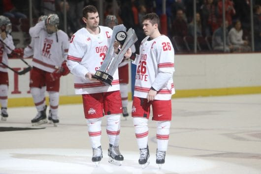 Men's Hockey: Rohlik, Nappier earn greatest honors for Ohio Condition
