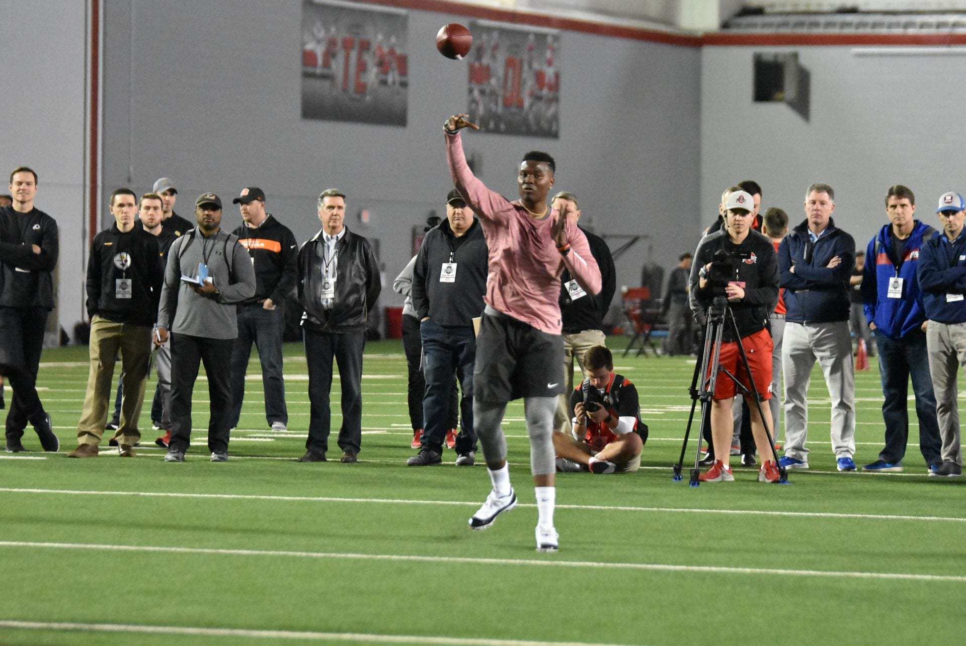 Football: Dwayne Haskins shines in Ohio State Pro Day