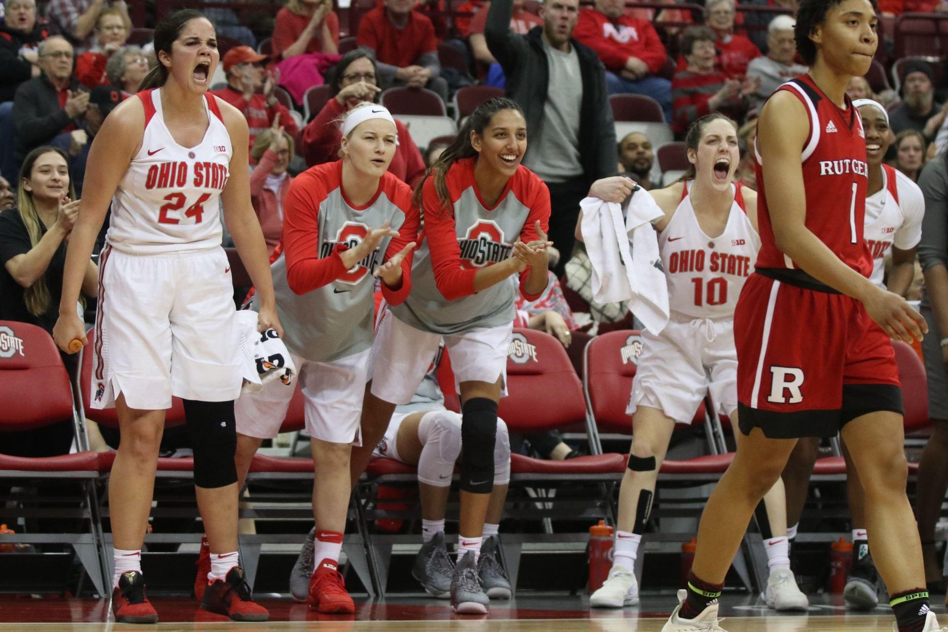 Women S Basketball Ohio State Rolls Past Kent State 75 65