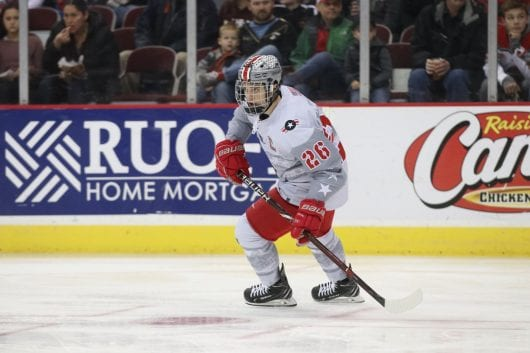IMG 9431 21uo35x 530x353 - Men?ˉs Hockey: Mason Jobst?ˉs effect on program felt because he enters final games for Ohio Condition