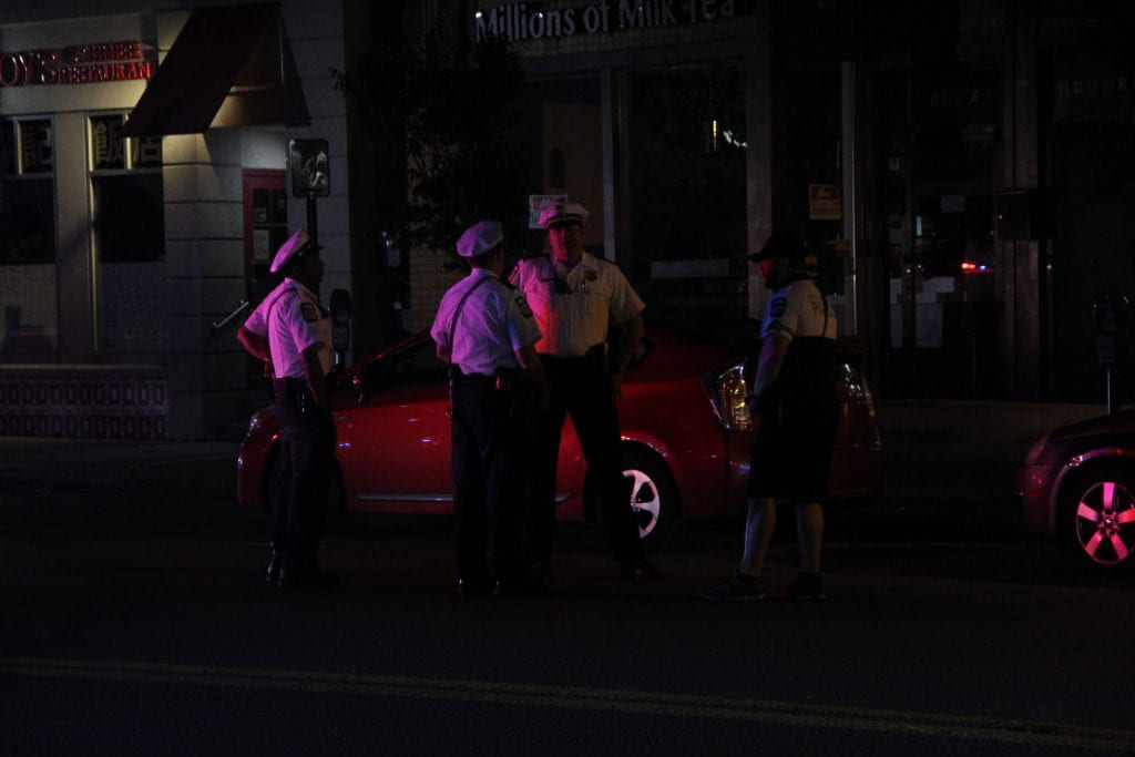Police block off the intersection of 18th Avenue and High Street following a shooting outside of McDonald's in Columbus on August 25. Credit: Casey Cascaldo | Managing Editor for Multimedia