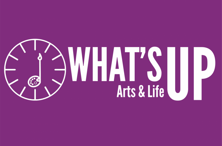 What's Up Logo, arts & life, arts life, a + e whats up