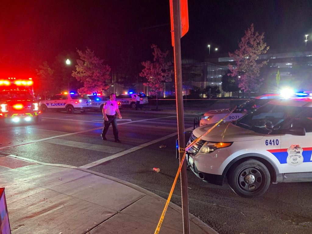 Ohio State sent out an active attacker Buckeye Alert at 1:37 a.m. Sunday morning regarding an active shooter near McDonald's on High Street.Credit: Courtesy of Alex Blazer