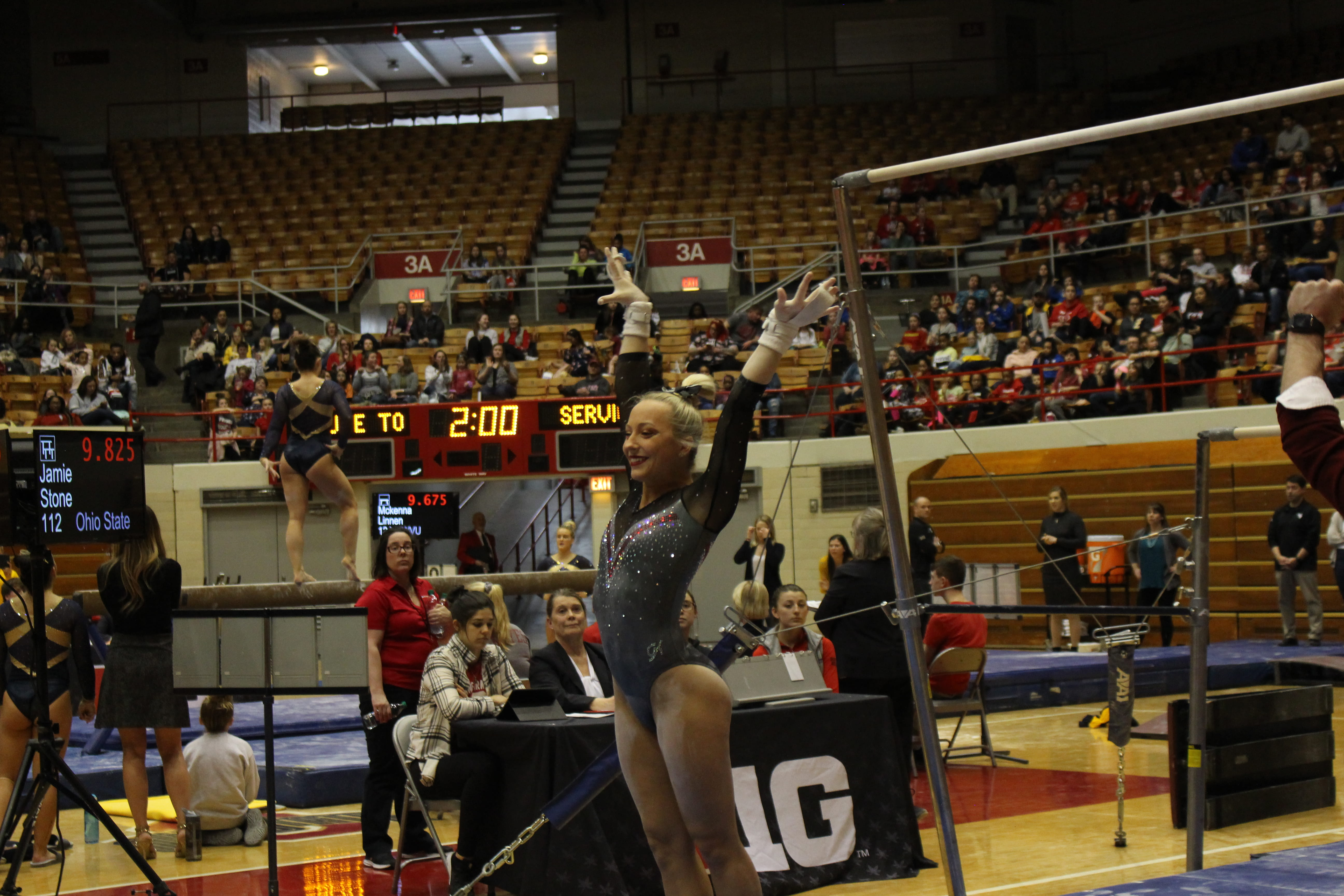 Women's Gymnastics: Team invites fans, friends and family to watch practice  – The Lantern