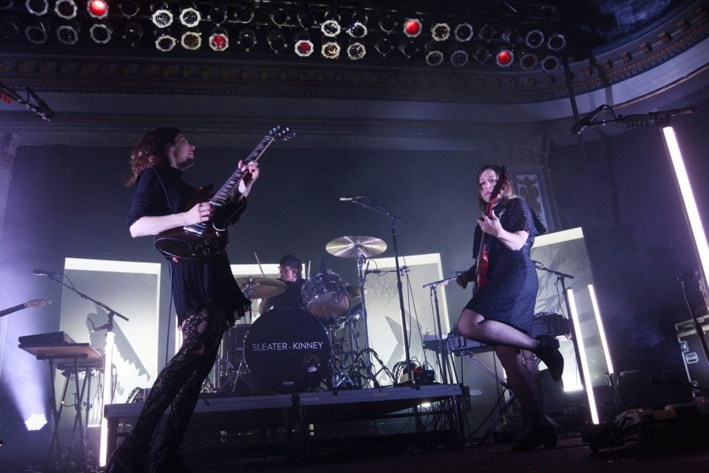 "Sleater-Kinney perform ""The Future is Here"" at Newport Music Hall on Nov. 1. Credit: Rachael Crouch 