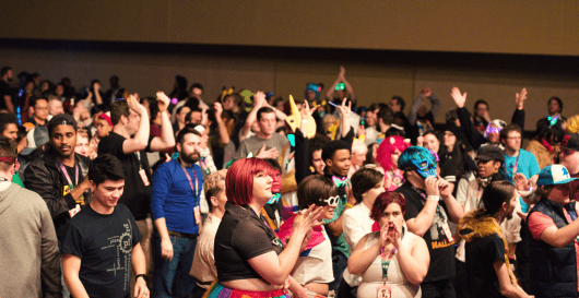 Congoers attend the Ohayocon 2019 at the Hyatt Regency and Greater Columbus Convention Center. Credit: courtesy of Katie Phelps