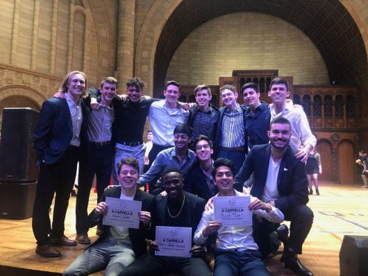 Buck That won the quarterfinals of the International Championship of Collegiate A Cappella on Jan 25. at Case Western Reserve University. Credit: Dan Hoornbeek | For The Lantern