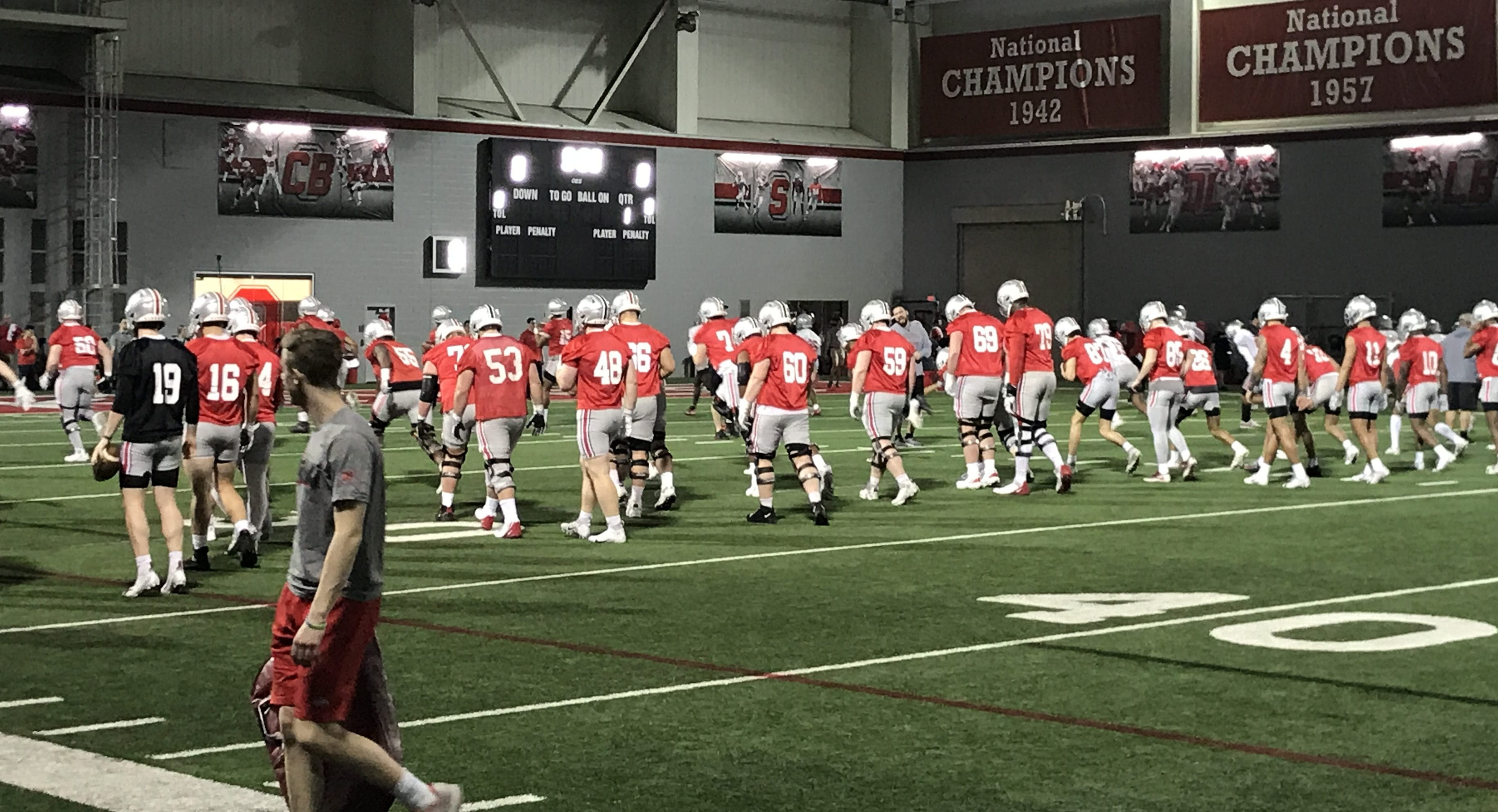 Football Jaxon Smith Njigba C J Stroud Show Flashes In First Ohio State Spring Practice The Lantern