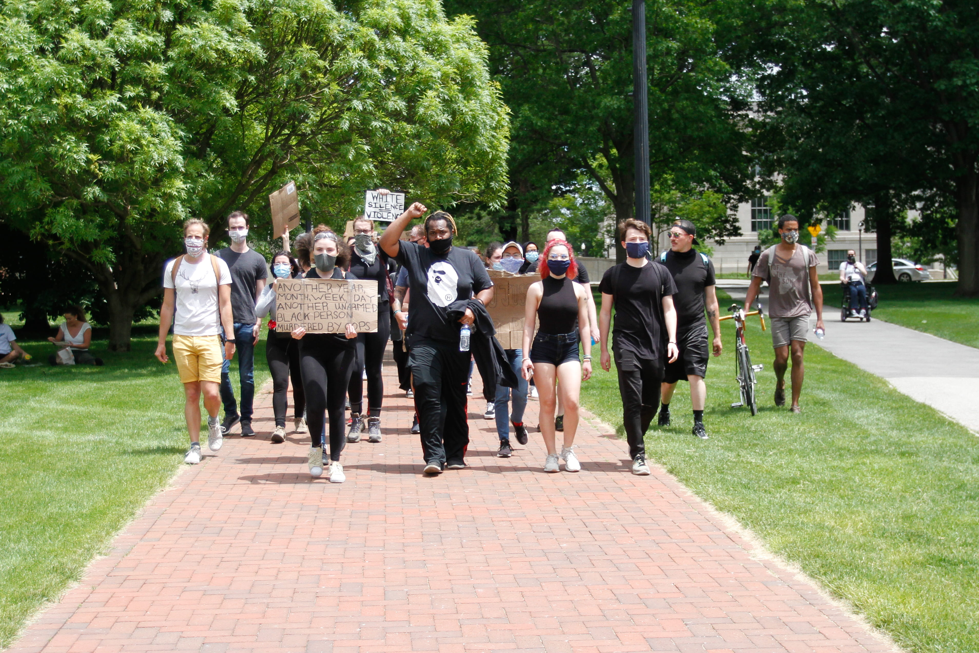 A group of protesters first moved into the Oval around 1:50 p.m. and left for Fifth Avenue around 2:13 p.m. Credit: Jack Long | Managing Editor Digital Content