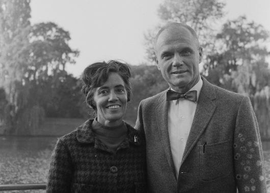Annie Glenn and astronaut and former Ohio Sen. John Glenn pose during their visit to the Netherlands Oct. 9, 1965. Credit: National Archives of Netherland/Anefo photo collection