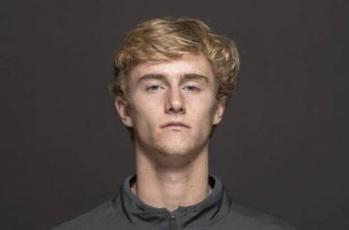 Ohio State men's tennis player Cannon Kingsley won the 2020 ITA National Rookie of the Year. Credit: Courtesy of Ohio State Athletics