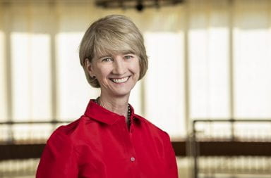 Kristina M. Johnson is stepping down from her position as chancellor of the State University of New York to become the next president of Ohio State University. | Credit: Courtesy of Ohio State
