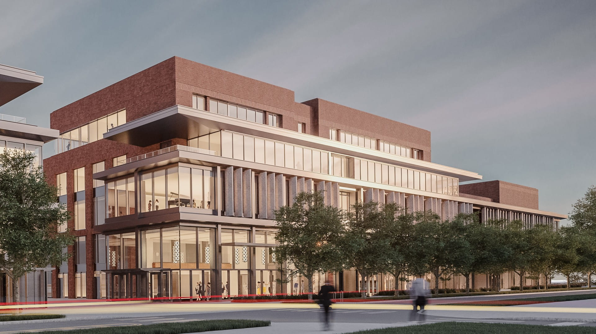 A rendering of of the Timashev Family Music Building that is under construction. Credit: Courtesy of Ohio State