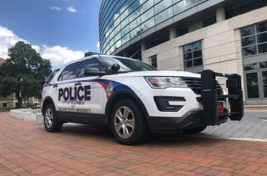 university police/columbus police joint vehicle