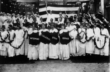 National American Woman Suffrage Association pose for a picture
