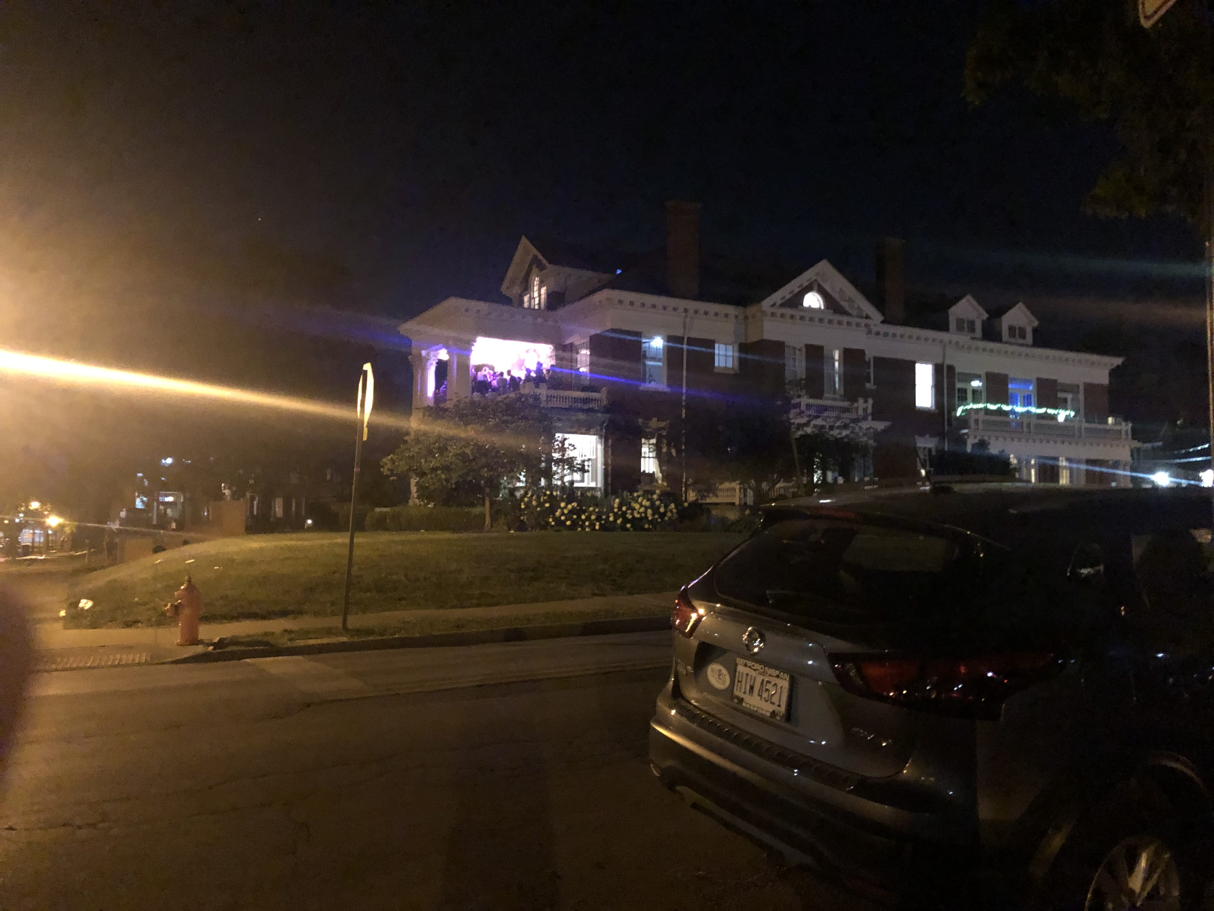 Students party at an off campus residence Thursday night.