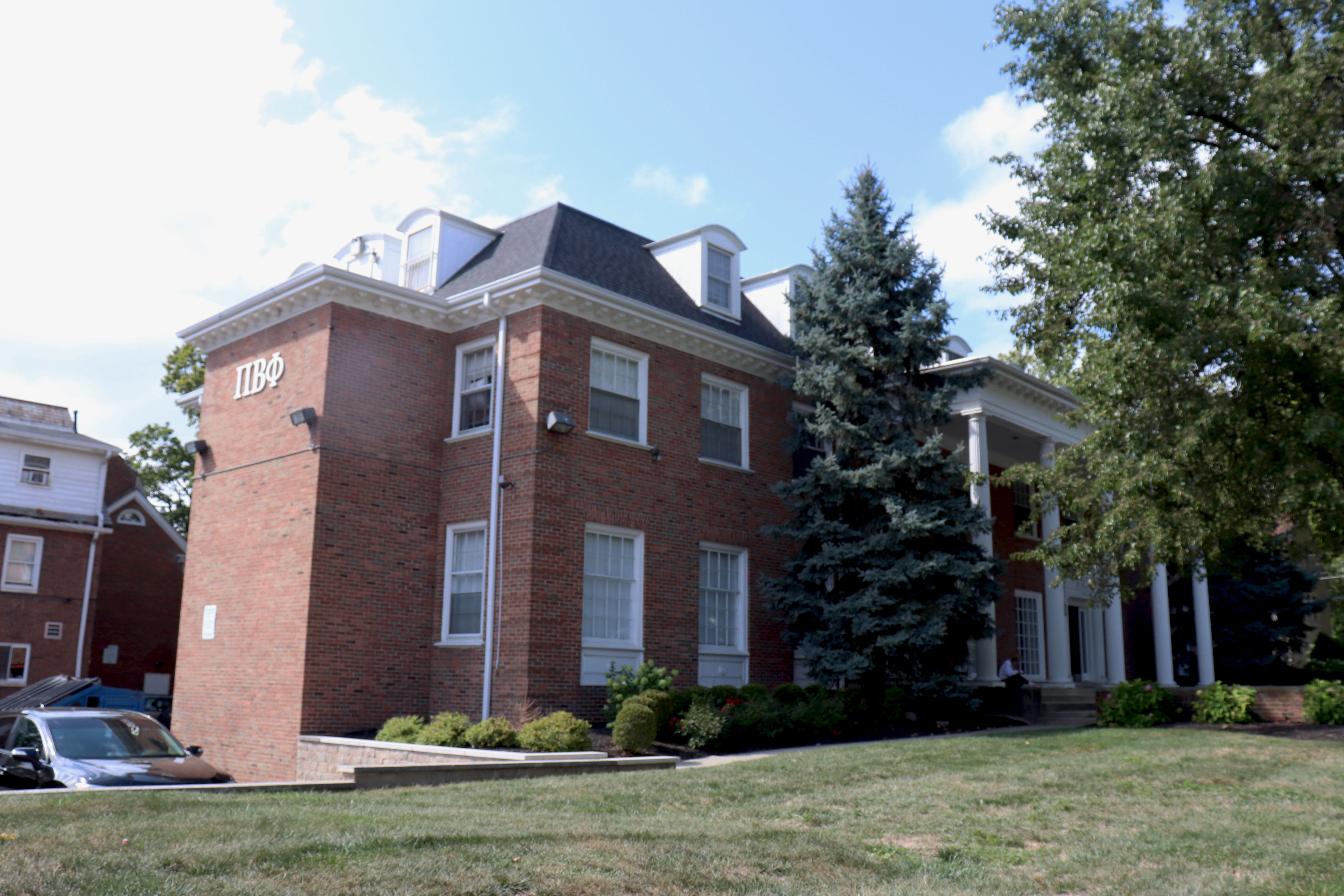 front of Pi Beta Phi Fraternity of Women House