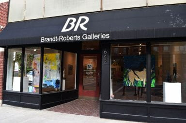 the front door of the Brandt-Roberts Galleries