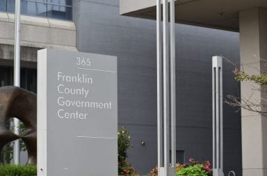 The Franklin County Government Center sign