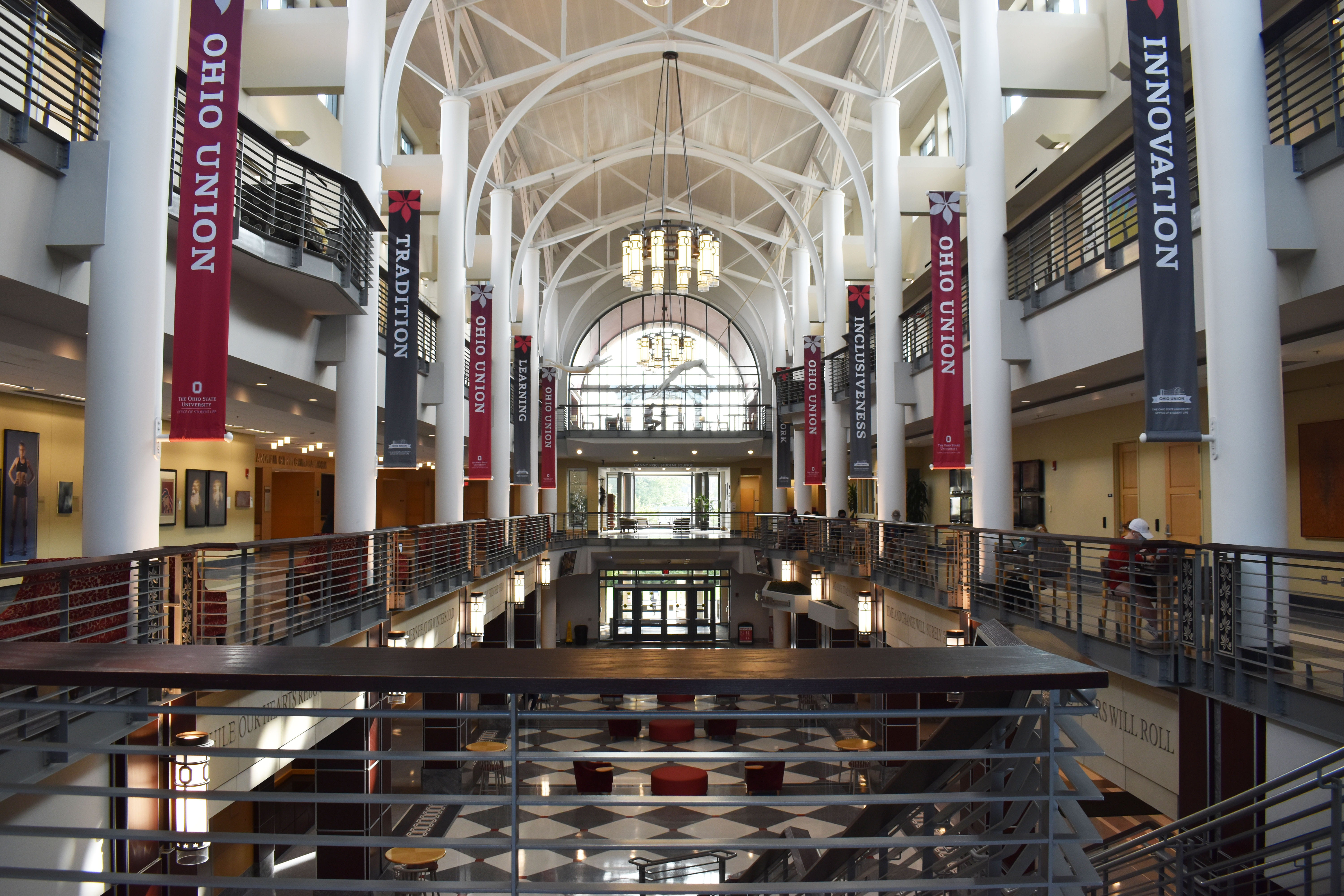 the inside of the Ohio Union