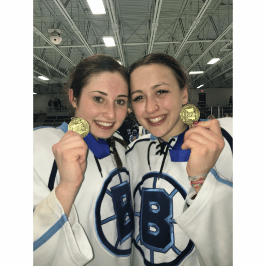 Ohio State women's hockey players Ramsey Parent and Gabby Rosenthal have played hockey together since U14 in Minnesota. Credit: Courtesy of Ramsey Parent
