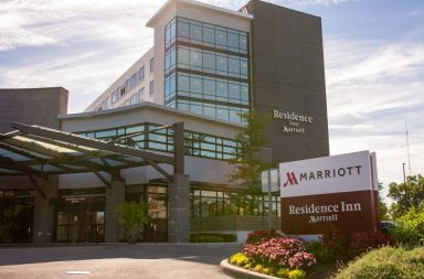 The exterior of the he Residence Inn by Marriott on Olentangy River Road.